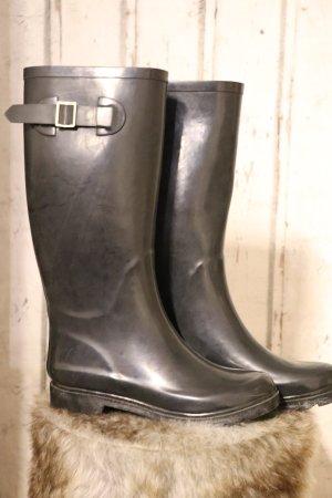Hoge laarzen zwart-antraciet