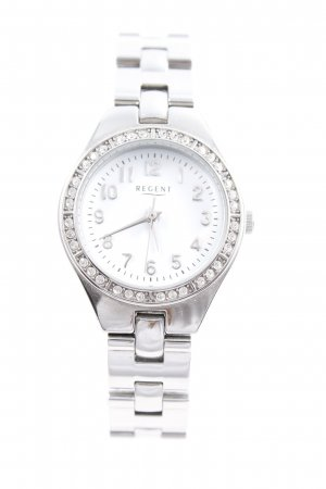 Regent Uhr mit Metallband silberfarben-weiß Casual-Look