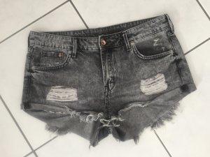 H&M Short en jean gris-noir coton