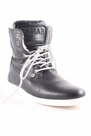 Rehab High Top Sneaker schwarz-weiß Casual-Look