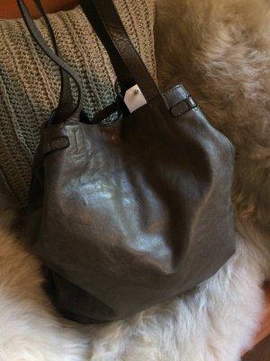REHARD Tasche, butterweiches Leder, toller Taupe-Ton, angenehme Grösse