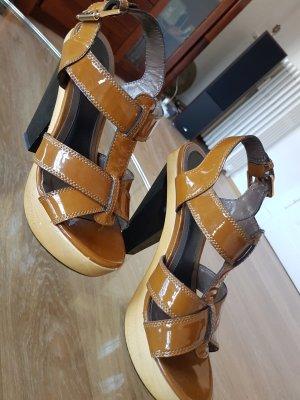 Lola cruz Platform High-Heeled Sandal light brown