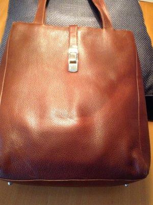 Rehbraune Leder Tote Bag weiches Leder lange Trageriemen
