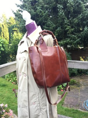 Bolsa de hombro marrón-coñac Cuero