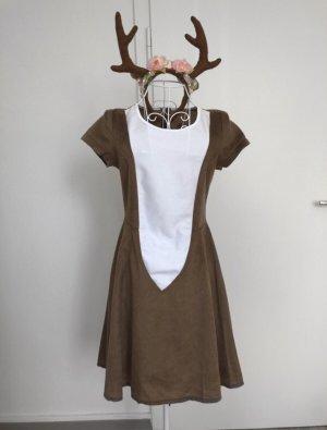 Traje para mujer marrón-blanco
