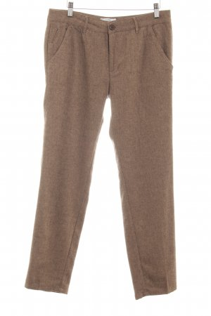 Reiko Marlene Trousers camel herringbone pattern business style