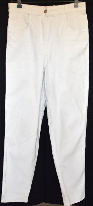 Rein-weiße Jeans aus festem Stoff