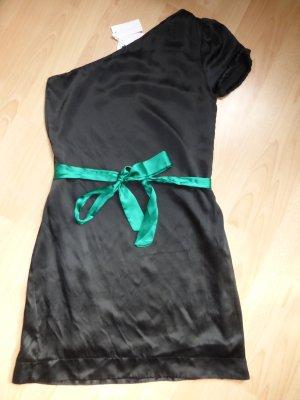 reine Seide - elegantes, schulterfreis Kleid