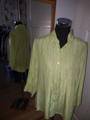 Alba Moda Silk Blouse lime-green silk
