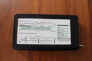 Reiseetui aus echtem Leder Flugpapiere, Reisepass etc.