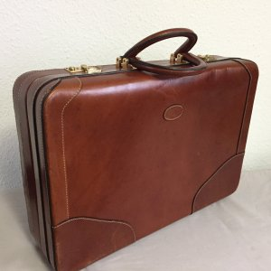 Etienne Aigner Suitcase brown leather