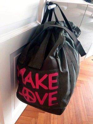 Reisetasche Allrounder Weekender Magenta Khaki Daybag Duffle große Tasche XXL