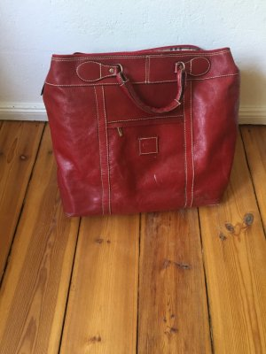 Travel Bag carmine leather