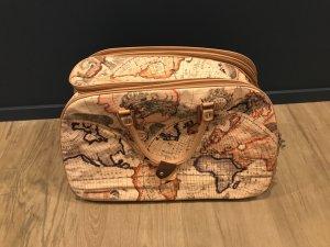Bolso de viaje marrón arena