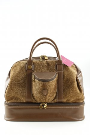 Travel Bag light brown-cream spot pattern casual look