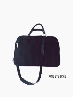 Reisetasche Koffer Reisetasche Handtasche schwarz mit schloss Gold Umhängetasche  elegant extravagant Stratic