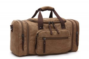 Travel Bag light brown-bronze-colored linen