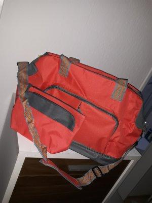Reisetasche Sporttasche Set orange grau NEU