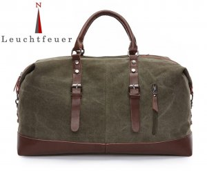 Travel Bag grey brown-taupe linen