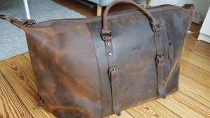 Reisetasche Weekender Vintage-Leder braun