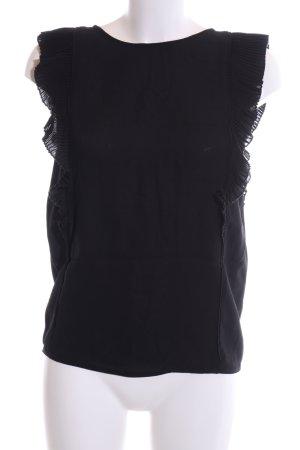 Reiss ärmellose Bluse schwarz Elegant