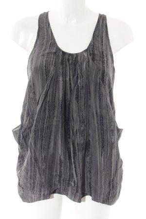 Reiss ärmellose Bluse dunkelgrau-schwarz abstrakter Druck Business-Look