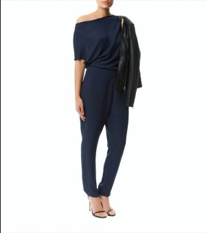 Reiss ASYMMETRIC JUMPSUIT  SLATE