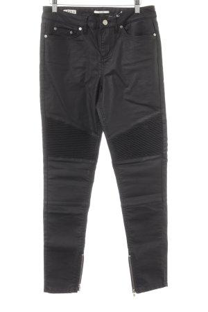 Reiss Jeans de moto noir Look de motard