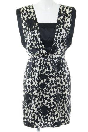 Reiss Robe chemisier noir-blanc motif abstrait style d'affaires