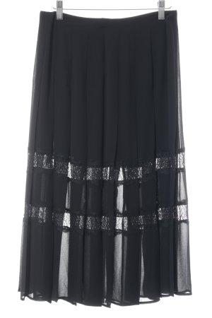 Reiss Faltenrock schwarz Elegant