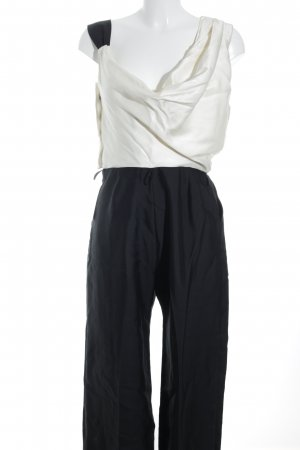 Reiss Jumpsuit creme-schwarz Dandy-Look