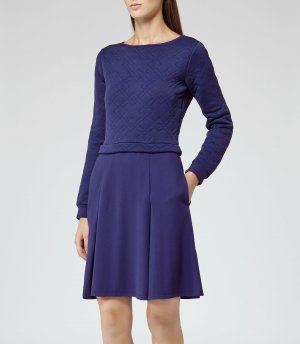 Reiss Kleid Blau Gr. 38 UK10 Designer Dress NP 280€