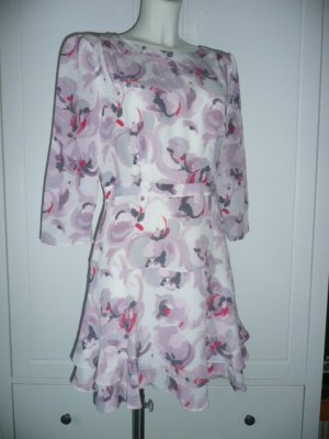 REISS Kleid Seidenkleid Silk Dress gemustert Gr 40