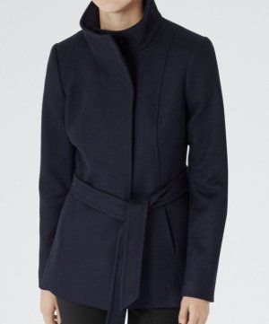 Reiss Hooded Coat dark blue