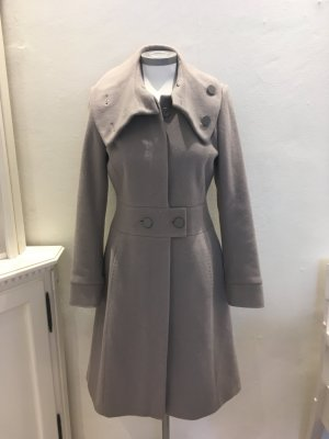 Reiss Mantel grau taupe Wolle S 36