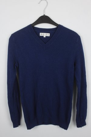 REISS Pullover Gr. S V-Ausschnitt dunkelblau (18/9/396)