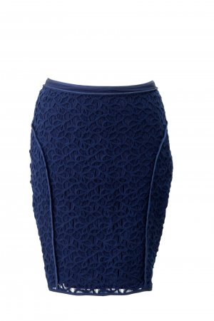 Reiss Lace Skirt dark blue cotton