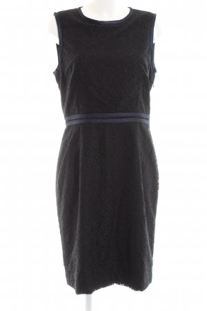 Reiss Lace Dress black allover print business style