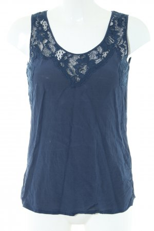 Reiss Spitzentop blau Casual-Look