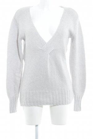 Reiss Strickpullover hellgrau Casual-Look