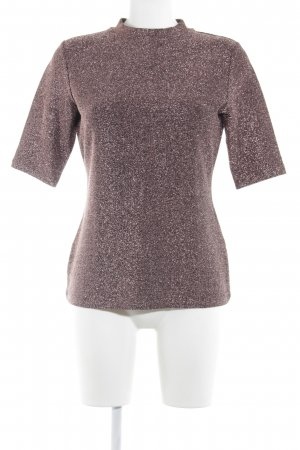 Reiss T-Shirt roségoldfarben Glitzer-Optik