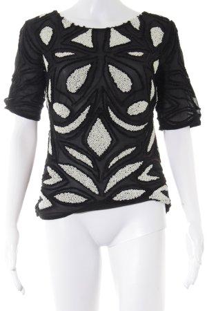 Reiss T-Shirt schwarz-weiß 80ies-Stil