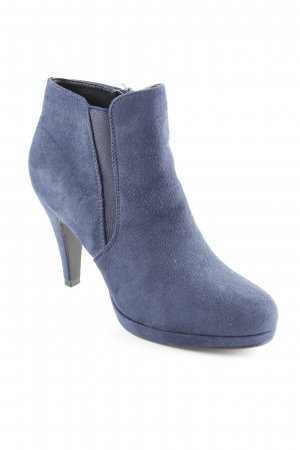 Anna Field Zipper Booties steel blue