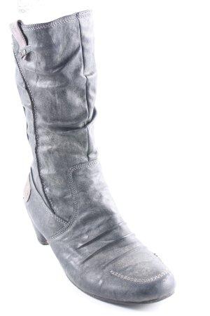 Reißverschluss-Stiefeletten dunkelgrau-grau Casual-Look