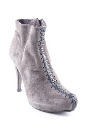 Reißverschluss-Stiefeletten graubraun Casual-Look