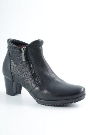 Reißverschluss-Stiefeletten schwarz Casual-Look