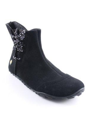 Reißverschluss-Stiefeletten schwarz-weiß Casual-Look