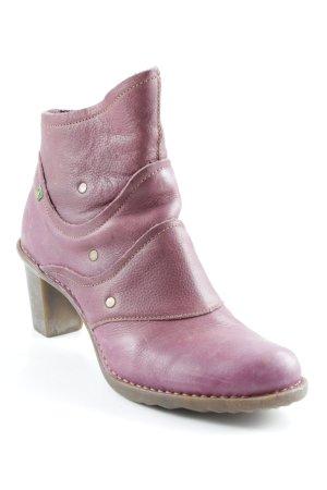 Reißverschluss-Stiefeletten violett Casual-Look