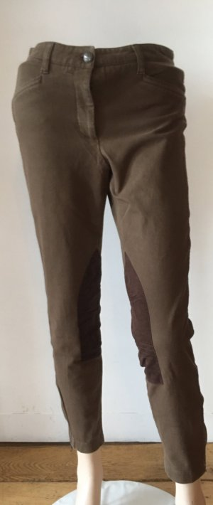 Cambio Riding Trousers taupe-dark brown