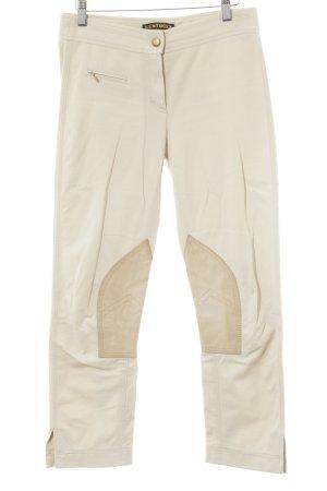 Pantalone da equitazione crema-beige stile motociclista